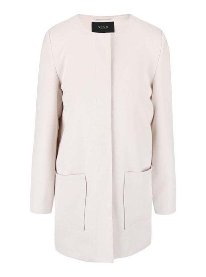 Krémový kabát VILA Cory