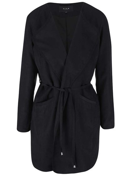 Čierny kabát VILA Emmely