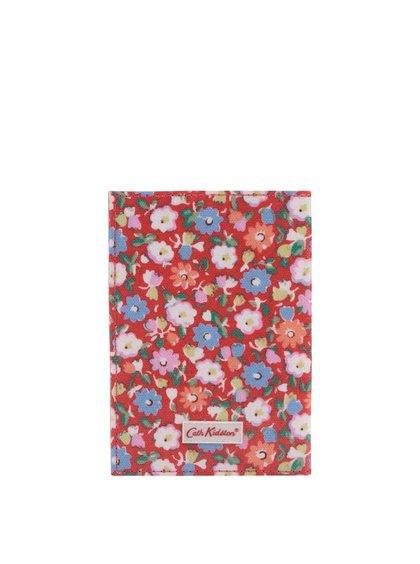 Červené kvetinové puzdro na doklady Cath Kidston