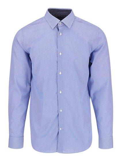 Modrá košeľa s drobným kockovaným vzorom Selected Homme Steven