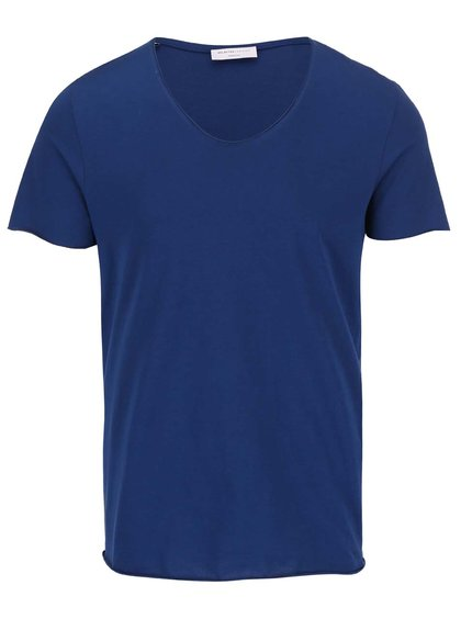 Tricou albastru Selected Homme Merce
