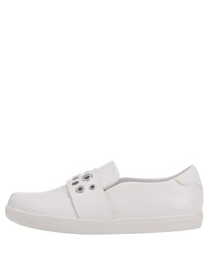 Biele topánky s kovovými detailmi ALDO Satch