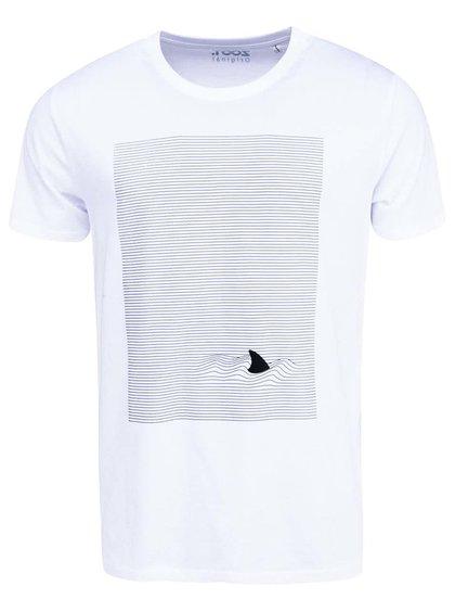 Bílé pánské triko s potiskem ZOOT Originál Žralok