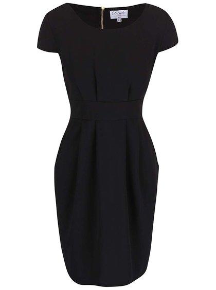 Rochie Closet neagră cu mânecă scurtă