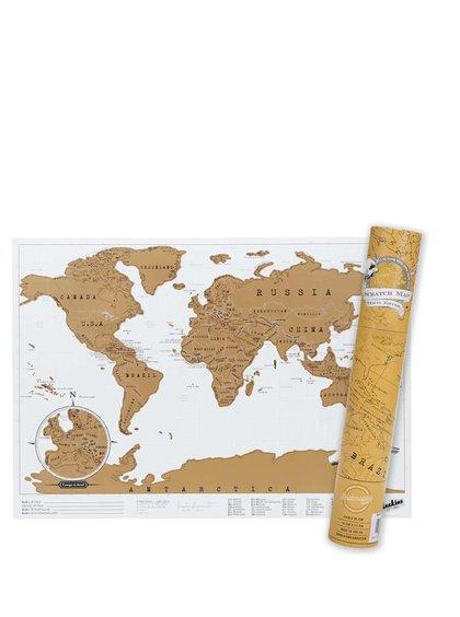 Malá stieracia nástenná mapa Luckies