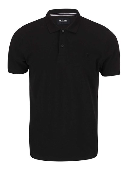 Černé polo triko ONLY & SONS Pique