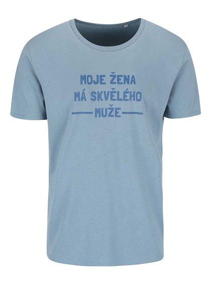 Modré pánské triko ZOOT Originál Moje žena