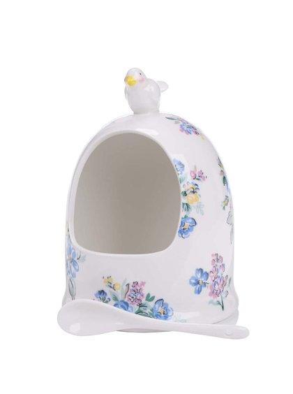 Bílá květovaná porcelánová slánka Cath Kidston
