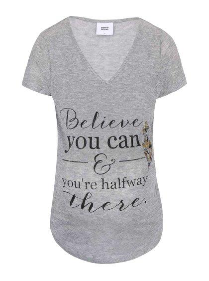 Sivé tričko s potlačou Mama.licious Bay