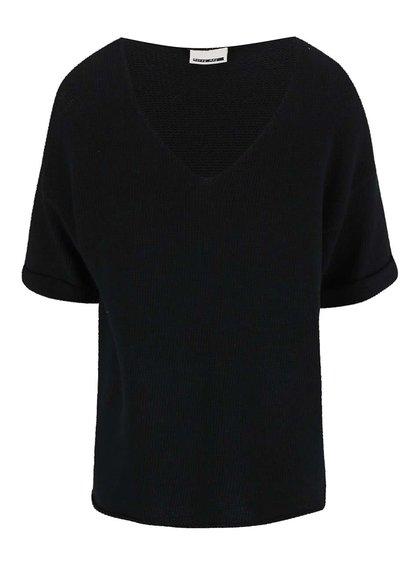 Čierny sveter s krátkym rukávom Noisy May Malin