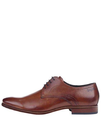 Pantofi bugatti bărbătești din piele maro
