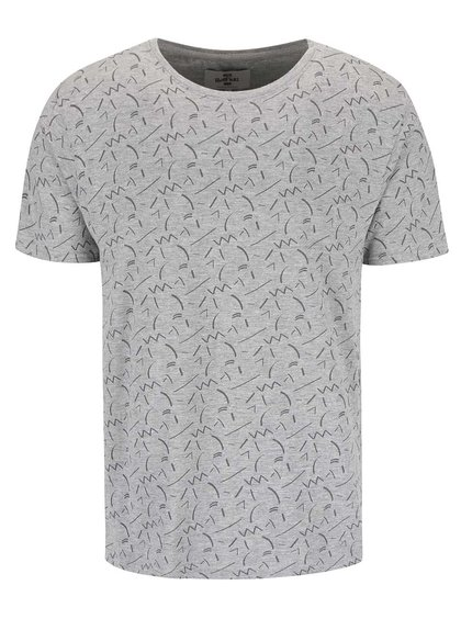 Bellfield Cosmos Grey Patterned T-shirt
