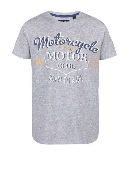 Šedé klučičí  tričko s motorkářským motivem Blue Seven