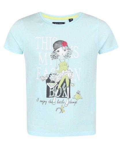 Svetlomodré dievčenské tričko s potlačou Blue Seven Fashion Gang