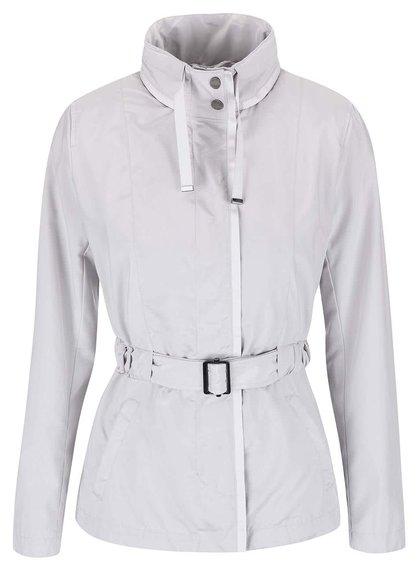 Jachetă Geox gri deschis cu cordon