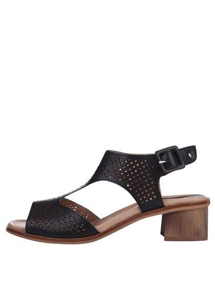 Čierne sandálky na podpätku Pikolinos Polinesia