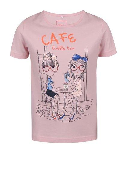 Tricou roz Name It Fabibi pentru fete