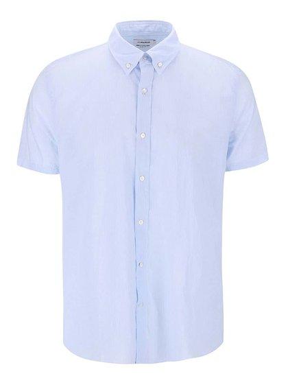 Modrá pruhovaná košeľa s krátkym rukávom J.Lindeberg Dani