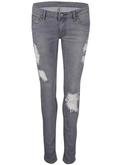 Blugi de damă Cheap Monday, model skinny, de culoare gri