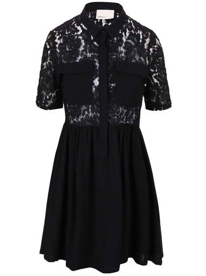 Rochie din dantelă Vero Moda Nynne, de culoare neagră