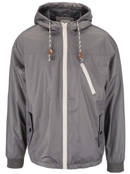 Šedá šusťáková bunda s kapucí Blend