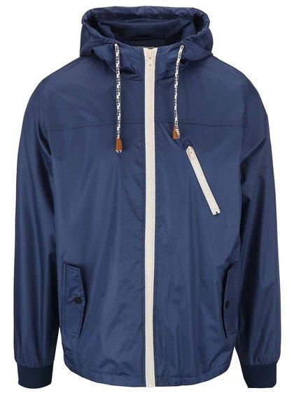 Modrá šušťáková bunda s kapucňou Blend