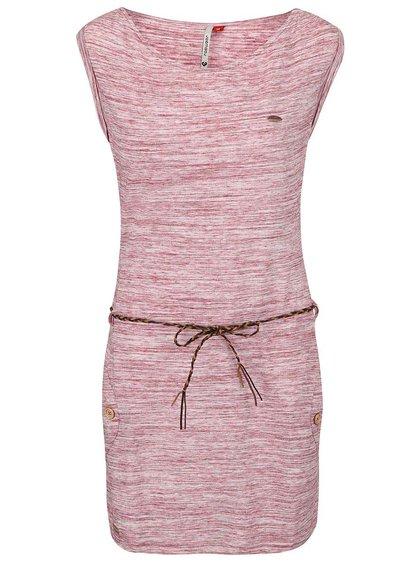 Vínové žíhané šaty Ragwear Tag