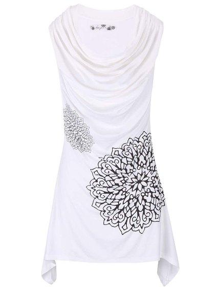 Rochie Desigual Montseny albă cu imprimeu floral
