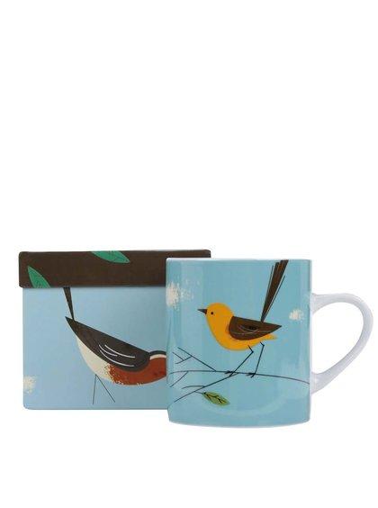 Modrý hrnek s ptáčkem Magpie Wagtail