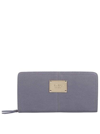 Sivá veľká obdĺžniková peňaženka LYDC
