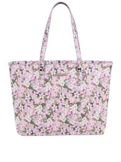 Ružový kvetovaný shopper LYDC