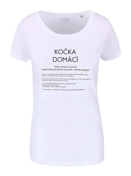 Biele dámske tričko ZOOT Originál Kočka domácí