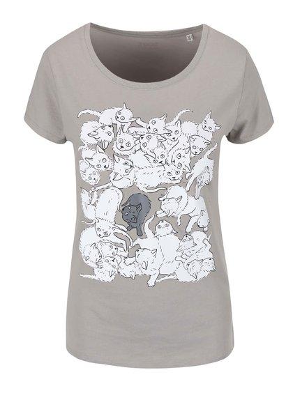 Šedé dámské tričko ZOOT Originál Koťata