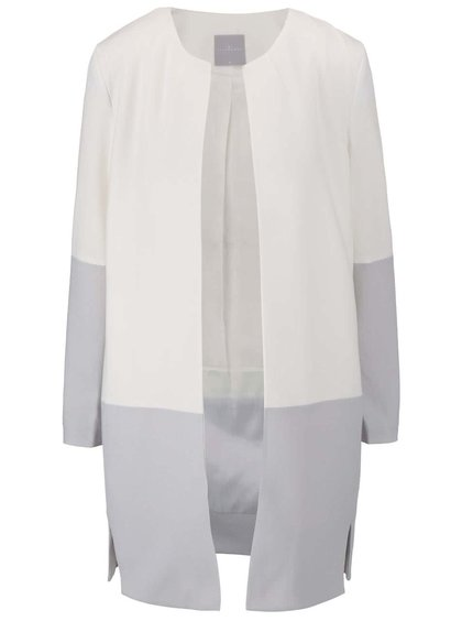 Jachetă YAYA gri-crem
