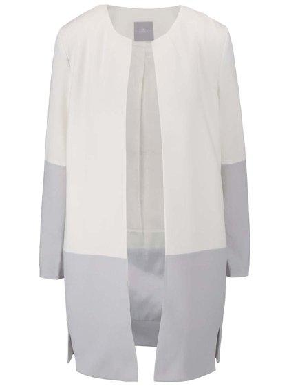 Šedo-krémový kabát YAYA