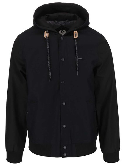 Čierna pánska bunda s kapucňou Ragwear Eagle
