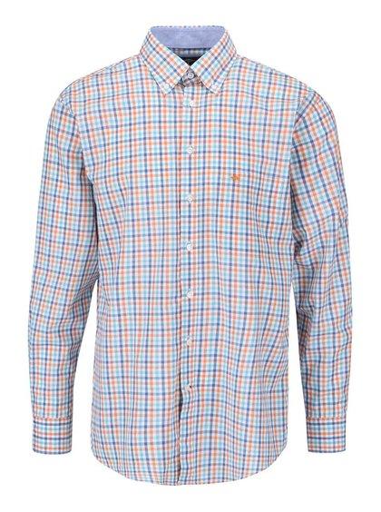 Oranžovo-modrá kostkovaná košile Fynch-Hatton