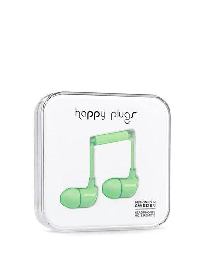 Zelená In-Ear sluchátka Happy Plugs