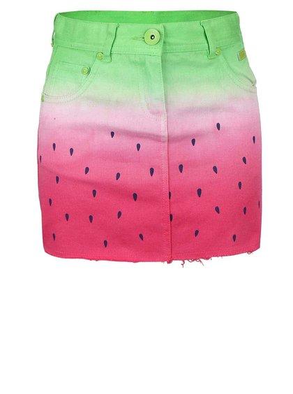 Zeleno-ružová sukňa so vzorom melóna Bóboli