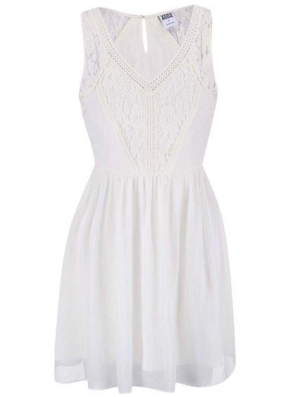 Krémové šaty so šifónovou sukňou VERO MODA Freja