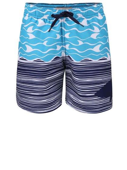 Modré klučičí plavky s potiskem Bóboli