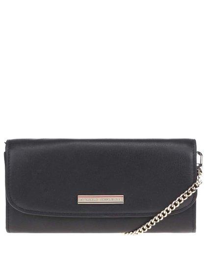 Černá malá kožená kabelka přes rameno Tommy Hilfiger
