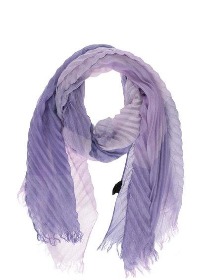 Fialový skládaný šátek INVUU London