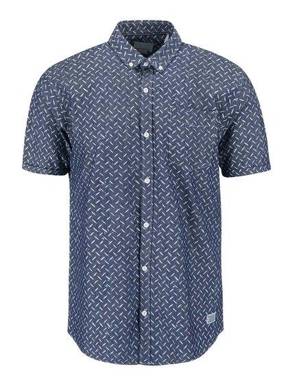 Modrá vzorovaná košeľa Shine Original Gibson Out