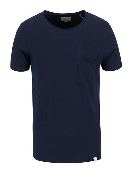 Tmavě modré triko s krátkým rukávem Shine Original Andy