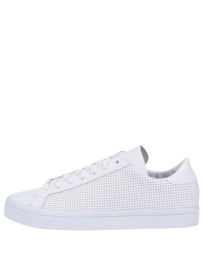 Biele pánske kožené tenisky adidas Originals Court Vantage