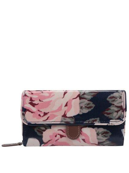 Tmavomodrá kvetovaná peňaženka Cath Kidston