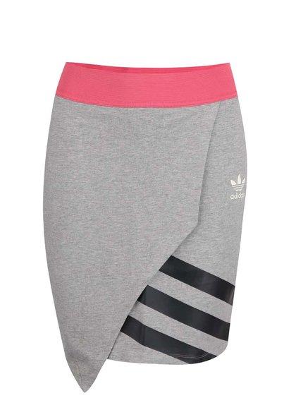 Fustă sport adidas Originals roz-gri