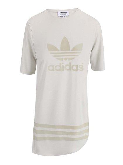 Krémové dlhé tričko s rozparkom adidas Originals