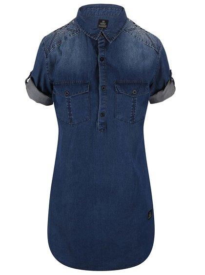 Tmavomodré košeľové šaty Horsefeathers Tereza